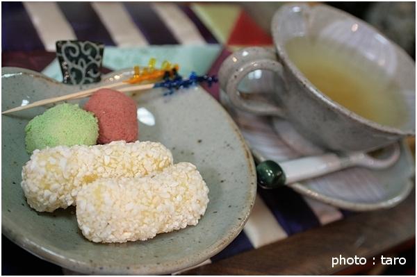 柚子茶とお菓子